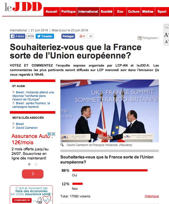 Möchten Sie, dass Frankreich aus der EU austritt?