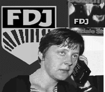 Angela Kasner-Merkel, damals bereits am Funktelefon!