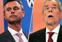 Präsidentschaftskandidaten Norbert Hofer und Alexander Van der Bellen (Fotoquelle: videgradpost.com)