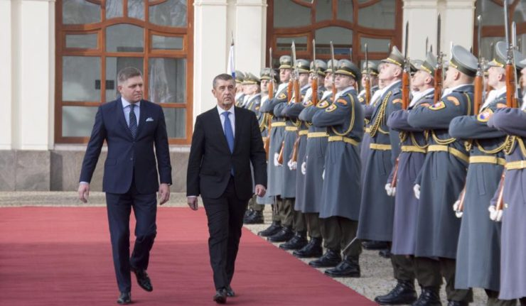 Andrej Babiš besucht die Slowakei