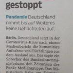 Nordwest-Zeitung gibt (unabsichtlich) Umsiedlung von Migranten nach Deutschland zu