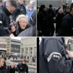 Unfassbar: DDR-Widerstandskämpferin Angelika Barbe wird abgeführt.