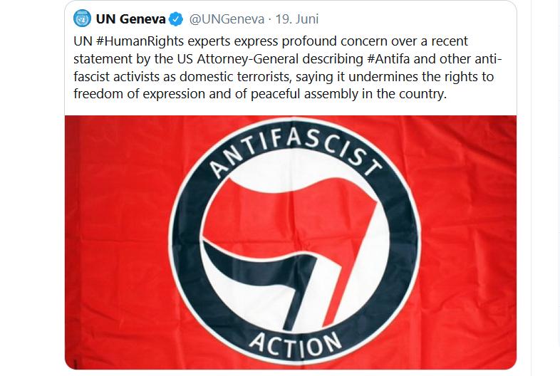 UNO solidarisiert sich mit linksradikaler Antifa