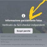 """Faktenprüfer von Facebook markieren die Nachricht einer Faktenprüferin der italienischen Regierung als """"Fake News"""""""