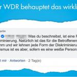 """WDR immer linksverbohrter: """"Rassismus gegen Weiße gibt es nicht!"""""""