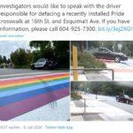"""Polizei ermittelt wegen Beschädigung von """"Homo-Regenbogen-Zebrastreifen""""!"""