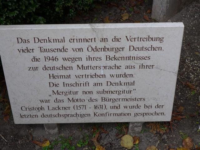 Ödenburg: 'Mergitur, non submergitur' – 'Taucht unter, versinkt aber nicht'