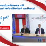 Österreich: Pressekonferenz zur Corona-Krise mit Norbert Hofer & Norbert van Handel