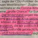 """Schäuble gibt zu: Corona-Krise ist """"große Chance"""" weil """"Widerstand in Krise"""" geringer"""