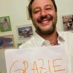 "Matteo Salvini: ""Grazie"""