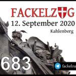 1683 Schlacht am Kahlenberg: Fackelzug zum Gedenken an die Verteidigung Wiens