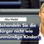 """Alice Weidel in Generaldebatte zu Merkel: Rechtsbrüche sind """"politisches Prinzip"""""""