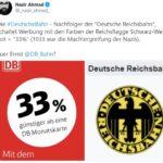 """Rot-Weiße DB-Werbung für Linke nun """"Nazi"""", weil """"Reichsflagge"""""""