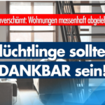 """Leipzig: """"Flüchtlinge"""" lehnen Wohnungen ab: zu klein, kein Lift, nicht zentral gelegen …"""