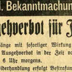 2020 oder 1938? Lockdown-Verordnung gleicht erschreckend NS-Ausgehverbot für Juden