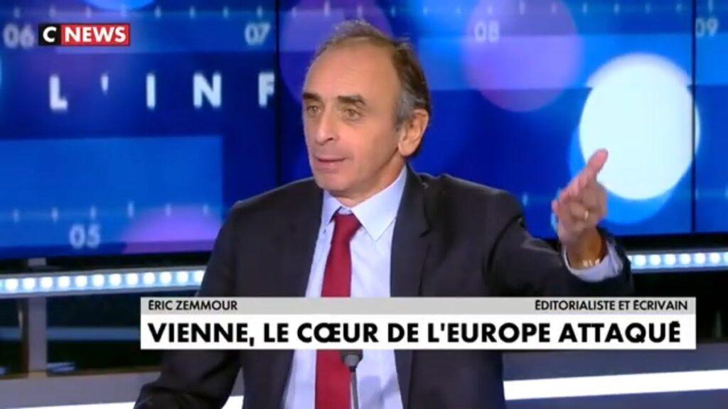 """Éric Zemmour: """"Hinter dem Wiener Terrorangriff steht der Einfluss Erdogans."""""""