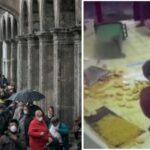 Mailand: Tausende Italiener stellen sich im Regen um Brot an - Immigranten werfen es weg (Video)