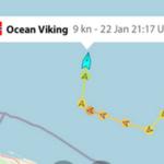 Französisches NGO-Schiff mit 400 illegalen Einwanderern an Bord in Richtung Italien unterwegs