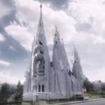 Die St.-Michaels-Kathedrale von Imre Makovecz soll in Budapest gebaut werden