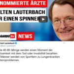 """Nach """"Sportler werden Potenzprobleme bekommen"""" ist Lauterbach für renommierte Ärzte ein Spinner"""